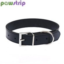 pawstrip XS-XL Genuine Leather Dog Collar Adjustable Pet Cat Chihuahua Puppy Neck Strap
