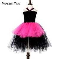 Популярные Rockstar платье-пачка для девочек ярко-розовый Детские День рождения производительность Косплэй Платья-пачка Хеллоуин костюм для д...
