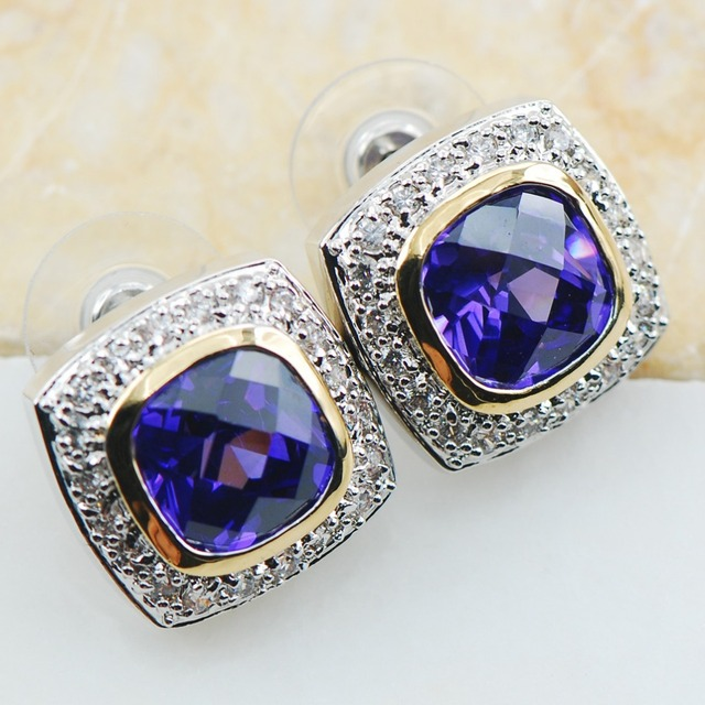 Amethyst 925 Sterling Silver Earrings TE607