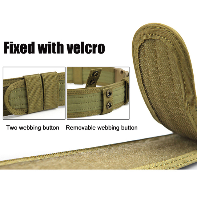 FREE SOLDIER Outdoor Sport Tactical Belt Accessories For Camping Hiking Molle Belt nylon Waist Belt For Men 5