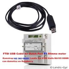 Kamструп 162 382 EN351 Landis Gyr E350 Kaifa MA105 DSMR для P1 голландский порт USB кабель Slimme Meter con domoticz en Raspberry 1,8 м