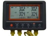 Многоканальный цифровой термометр az88598 4 канальный K Тип термопары Температура Logger SD карты регистратор данных az 88598