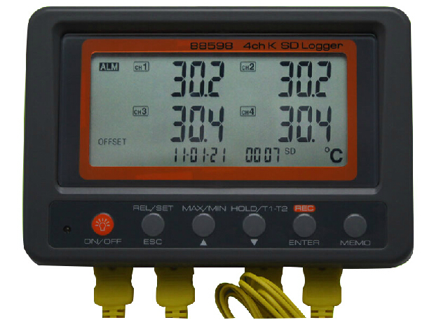 Multiple Channel Temperature Data Logger Voltage : Multi channel digital thermometer az k type