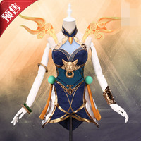 New Custom LOL Luxanna Elementalist Lux Element Skin Cosplay Costume Women Dress Halloween Female Costume Dresses