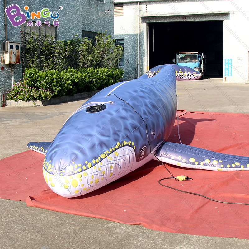 Customized 5 Meters long giant inflatable whale high quality digital printing decorative blow up whale replica for display toysCustomized 5 Meters long giant inflatable whale high quality digital printing decorative blow up whale replica for display toys