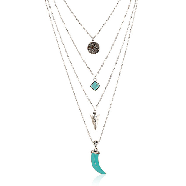 2016 new fashion trendy jewelry simple long green stone chain 2016 new fashion trendy jewelry simple long green stone chain alloy coin striangle pendants chains necklace mozeypictures Gallery