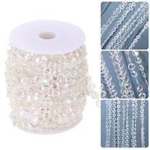 1Roll 30M Wedding Decoration Crystal Acrylic Beads Curtain DIY Garland Diamond Shimmer Curtains Christmas Party Decor Ornaments