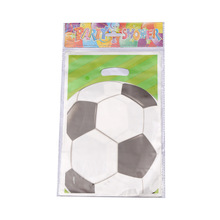 10pcs/lot Green Soccer Sport Theme gift bag party decoration easter packageing birthday decor kids Activity goods hot