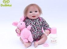 Venda quente bonecas bebe reborn silicone bebê reborn realista bonito bebês Presente de NATAL para meninas cama tempo brinquedo educação infantil Bonecas