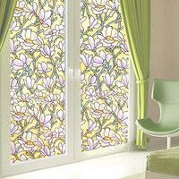 Window Privacy Films No Glue Painted Glass Static Kitchen Glass Window Film Stickers Home Decor