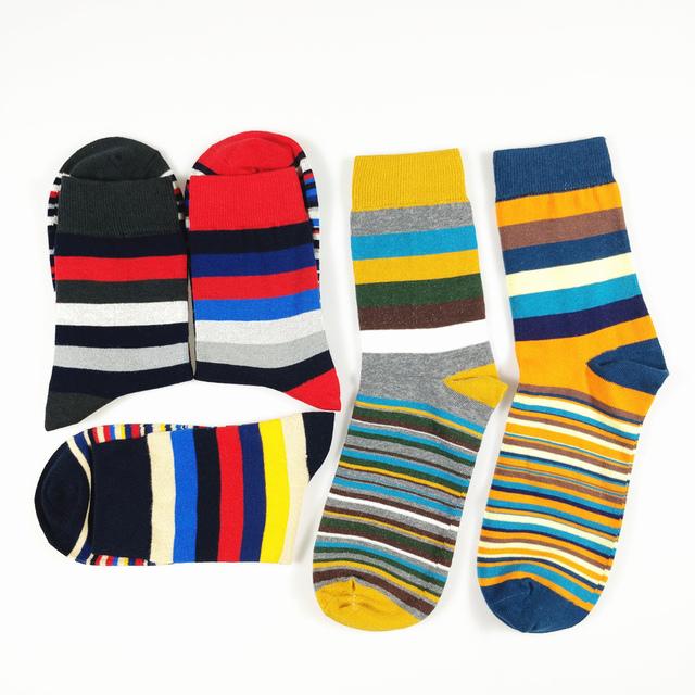 Casual men's Designer Cotton socks 5 pairs/lot