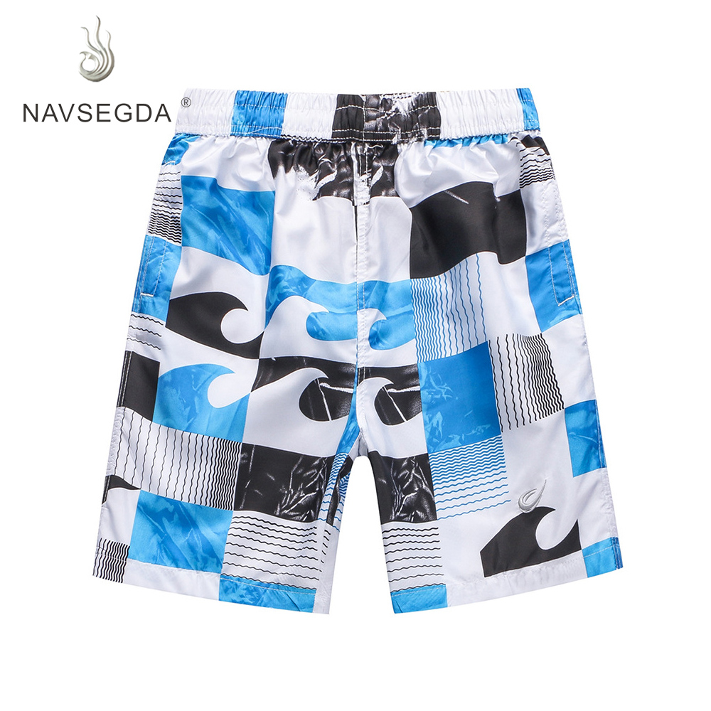 NAVSEGDA 2019 Printing Swimming Surfing Summer Draw String Beach   Shorts   Men's Trunk Water   Short     Board     Shorts   Team Wear