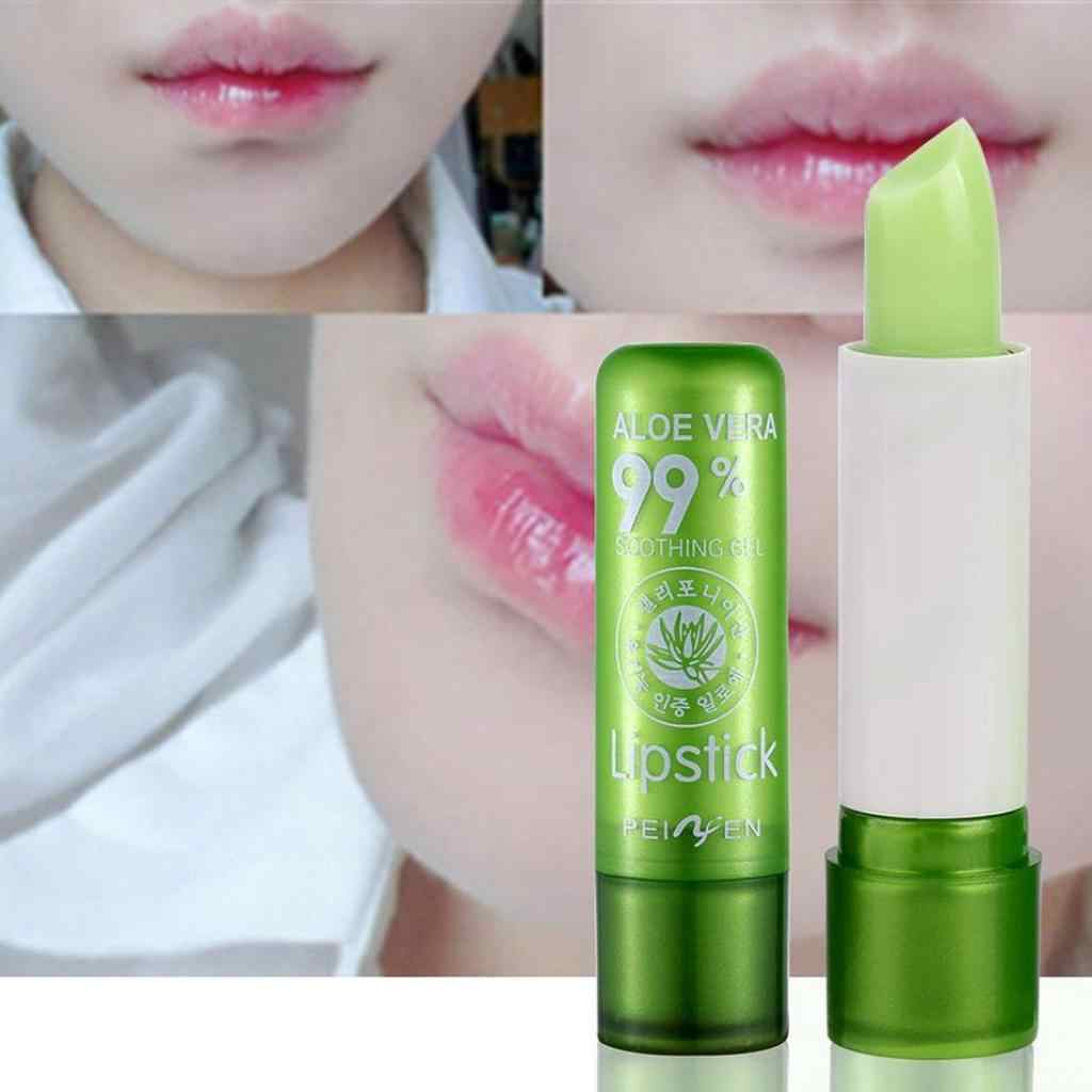 PNF Aloe Vera Natural Lipbalm Temperature Color Changing Long Lasting Moisturizing Makeup Protection Lips Balm Levre Cosmetics