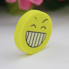 8PCS Smile Face Erasers Rubber for Pencil Kid Funny Cute Stationery Novelty Eraser Office Accessories School
