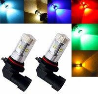 2PCS H10 9145 9140 High Power 30W 6000K White CREE LED Bulbs Driving Fog Lights Red