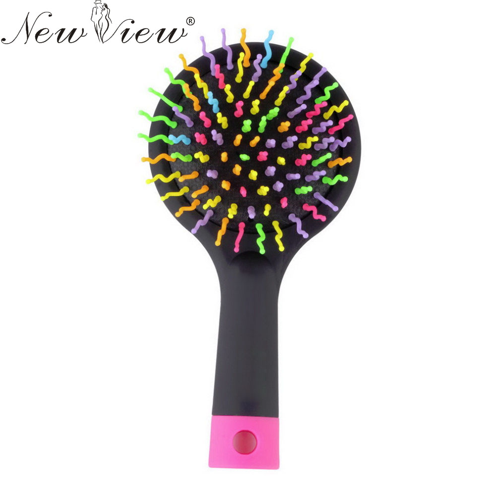 Newview Magic Hair Comb Brush Rainbow Volume Styling Tools