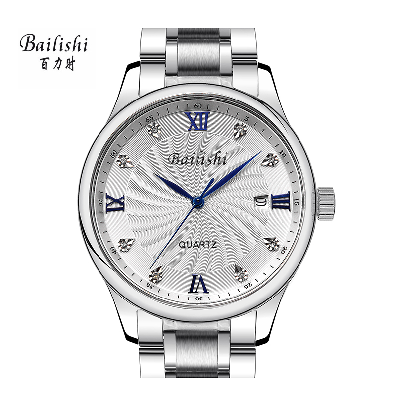 BAILISHI Diamonds Hour Stainless Steel Wrist Watch Male Clock Men Sports Watches Men's Casual Quartz Watch Waterproof Watches bailishi top luxury brand men watches diamonds hour stainless steel sports wrist watch male causal quartz male watch waterproof
