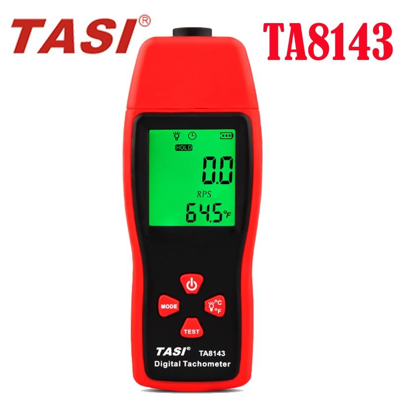 TA8143 Contagiri Digitale, laser contagiri ottico fotoelettrico metro 2.5 PM ~ 99999 RPM Tachimetro Contagiri digitale display