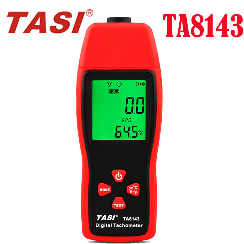 TA8143 Digital Tachometer , laser tachometer optical photoelectric meter 2.5PM~99999RPM Speedometer digital Tachometer display victor dm6235p digital tachometer