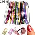 Elite99 Striping Tape Line Nail Art Tips Decoration Sticker Nail 10pcs Mixed Colors Nail Rolls Striping Tape Line DIY For Nail