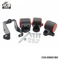For Honda Civic 96 00 EK Motor Mounts Kit For B Seires B16 B17 D15 D16 HU CXX EM001BK