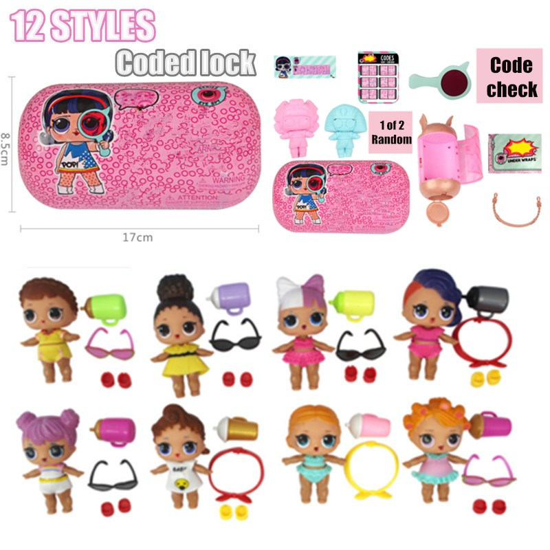 New pattern Password lock capsule Doll Unpacking Dolls Tear Open Color Action Figures Toys Christmas Kids Gift girls diy цены