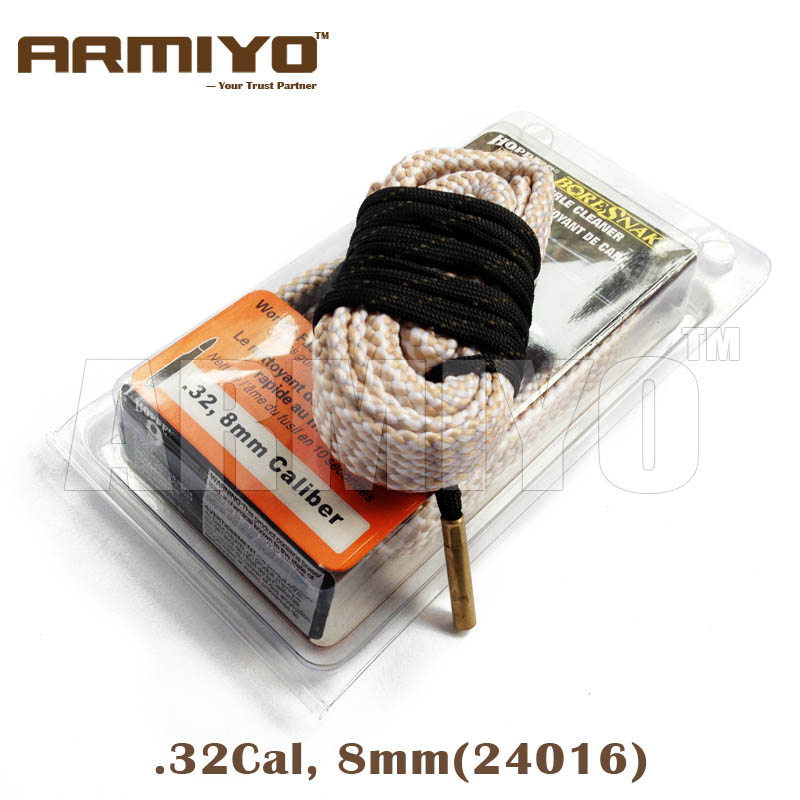 Armiyo Bore Snake 8mm .32 Cal Gun Bore Cleaning Sling Rifle Barrel Cleaner Kit Hunting Shooting Clean Accessories 24016
