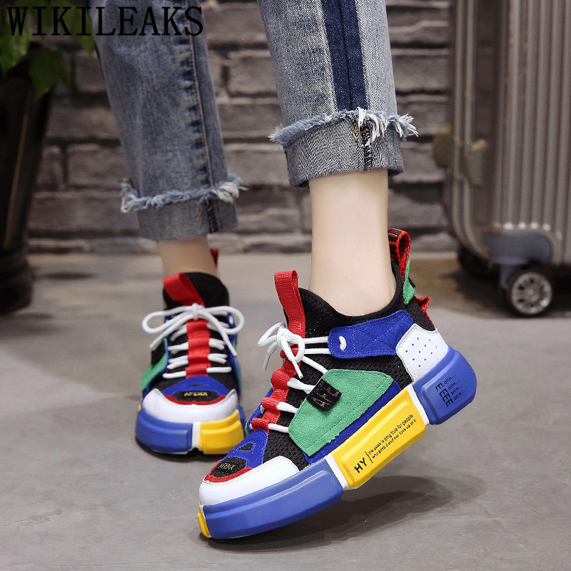 Luxury Brand Shoes Women Air Mesh Breather Harajuku Shoes Womens Platform Sneakers Basket Femme 2020 Women's Vulcanize Shoes