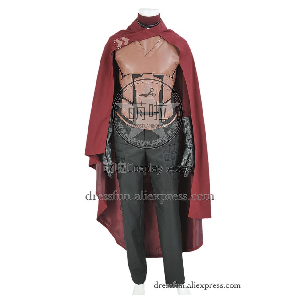 X Men Erik Lehnsherr Magneto костюм для костюмированной вечеринки наряд униформа, жилет для вечеринки, рубашка на Хэллоуин, высококачественный плащ