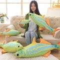 40-120 cm de Gran Tamaño Juguetes Kawaii lista de acuario peces Juguetes de Peluche Pescado de Mar de color del Paño de La Muñeca almohada Cojín Suave 2017 Nuevo