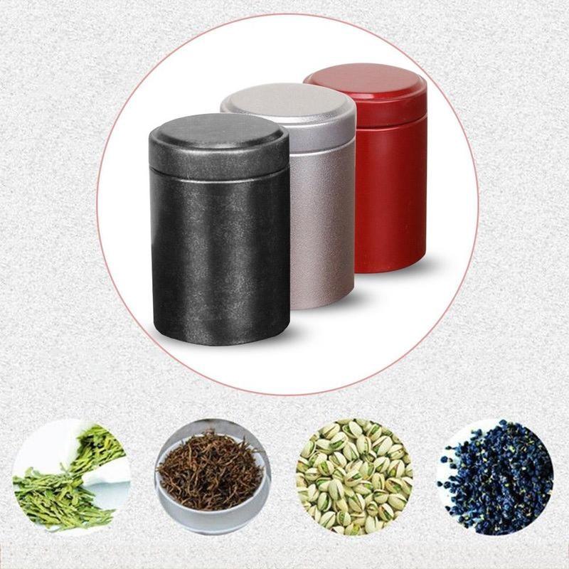 Airtight Smell Proof Container Aluminum Herb Stash Jar Coffee Storage Box Caddies Box