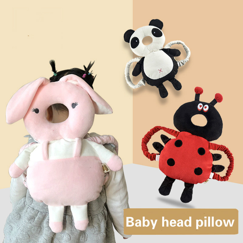 35CM*20CM*3.5CM Baby Toddlers Prevent Fall Breathable Headrest Animal Modeling Soft Single Layer Infant Head Protection Pillow