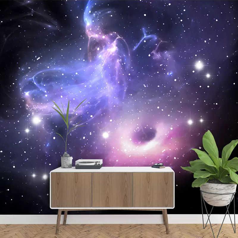 Custom 3d Stereoscopic Universe Stars Galaxy Ceiling Mural Wall Painting Ktv Living Room Bedroom Background Wallpaper Murals 3d Wallpapers Aliexpress