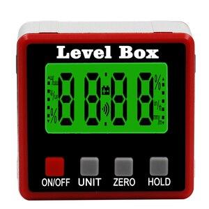 Image 3 - Rapporteur numérique de précision inclinomètre numérique, boîte de niveau étanche, détecteur dangle numérique avec Base magnétique
