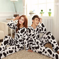 GOPLUS Autumn Long-sleeve Cartoon Lovers Home Clothing Couples Matching Pajamas Adult Cow Pajamas 2 Piece Sets Lovers Sleepwear