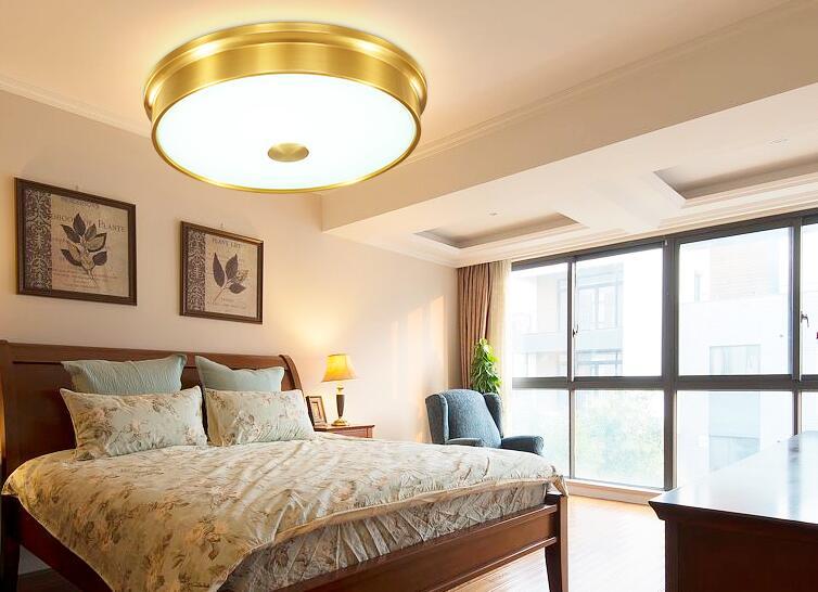 Plafoniere Per Rustico : Americano rustico rame plafon led plafoniere per la casa soggiorno