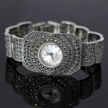 Nouvelle Édition Limitée Classique Élégant S925 Argent Pur Thai Argent Bracelet Montres Processus Thaïlande Strass Bracelet Dresswatch