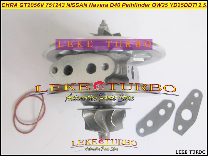 Turbo cartridge CHRA GT2056V 751243-5002S 751243 14411-EB300 Turbocharger For NISSAN Navara D40 Pathfinder QW25 05 YD25DDTi 2.5L цена