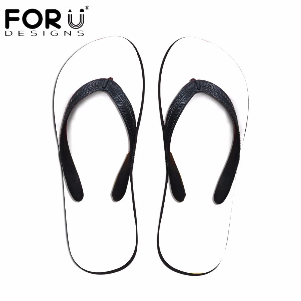 FORUDESIGNS Custom Images Or Logo Women Summer Flip Flops Flat Non-slip Beach Slippers Woman House Flip Flops Rubber Beach Shoe