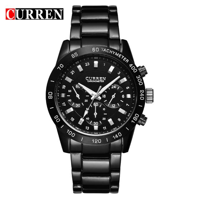 CURREN Homens relógios de Pulso Militar Dos Homens Relógios Top Marca de Luxo Completa Aço Homens Esportes Relógio À Prova D' Água Relogio masculino 8017