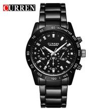 CURREN Hombres Relojes de Primeras Marcas de Lujo de Los Hombres Militares Hombres Deportes Impermeable Reloj de Pulsera de Acero Lleno Relogio masculino 8017
