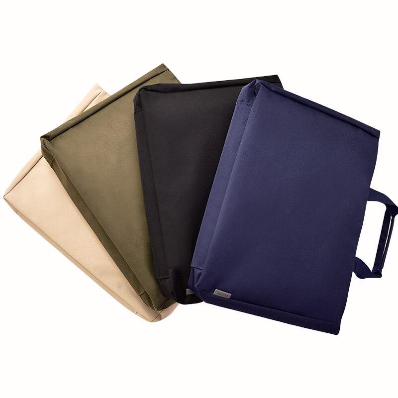DEL Document Bags A4 File Folder Students Paper Storage Bag Business Briefcase Laptop Bag Office Portable Folder Filing Products