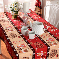 Factory Outlet Wedding Cloth Moore Manor Christmas Tablecloth Boy Girl Cartoon Party Table Runner Cotton Fabric