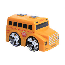 Mini Vehicle Children School Bus Toy Decor Diecast Pull Back Car Xmas Gift plastic Car Model Kids Children Gift Toy(China)