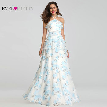 Robe Demoiselle D'honneur Ever Pretty EP07239 Elegant A Line V Neck Foral Print Bridsmaid Dresses Long Wedding Party Gown 2018 Bridesmaid Dresses and Gowns