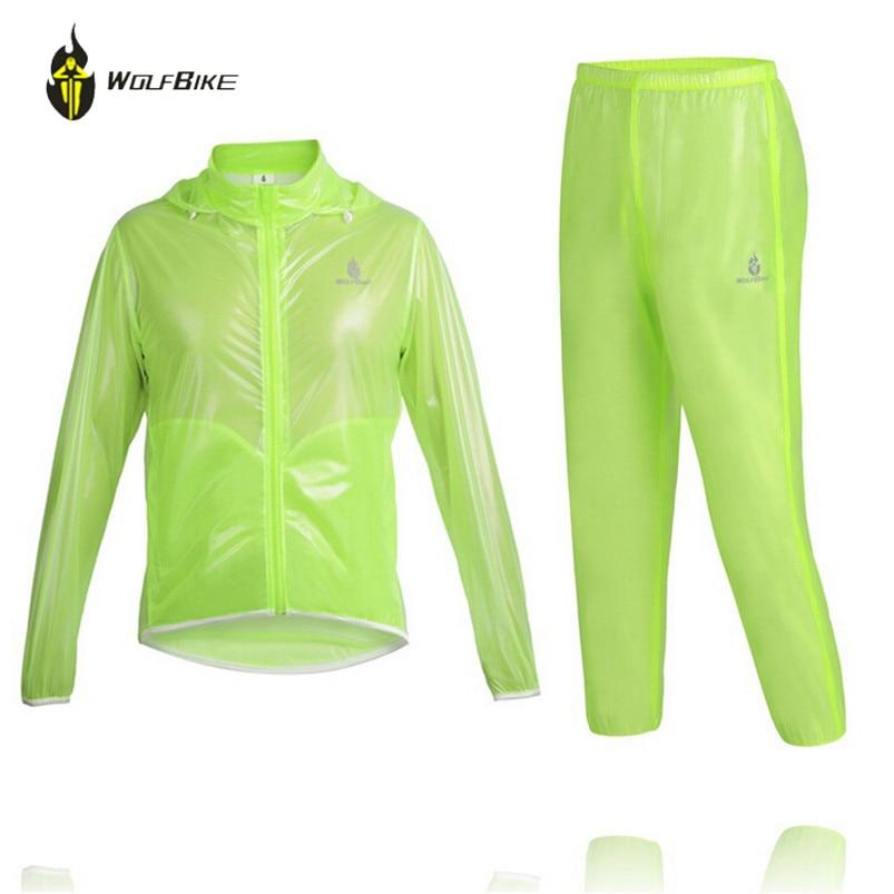 WOLFBIKE Cycling Outdoor MTB Bicycle Raincoat Poncho Jacket Bicycle Rain Coat Windproof Waterproof Bicycle Raincoat Jacket Suits