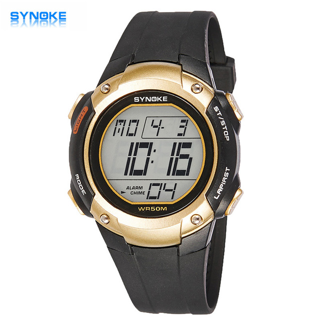 Hot Sale SYNOKE Brand LED Watch Outdoor Sports Watches Ultrathin Students Boy Gift Waterproof Digital-watch Relogio Masculino