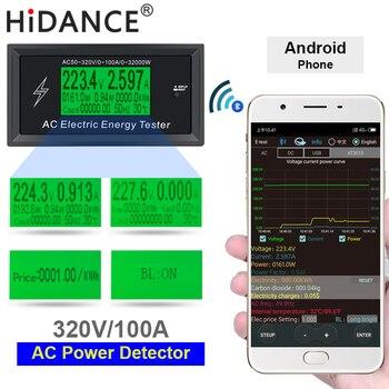 AC Đo 100A Kỹ Thuật Số Điện Áp ứng dụng điện thoại chỉ số Điện Năng Lượng Vôn Kế Ampe Kế hiện tại Amps Volt wattmeter tester detector