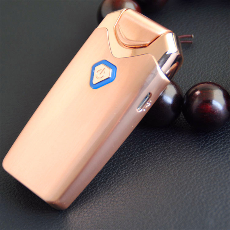 Image 2 - New USB Thunder Lighter Rechargeable Electronic Lighter Cigarette Plasma Double Arc Palse Pulse Windproof Gadgets for Men Gift-in Cigarette Accessories from Home & Garden
