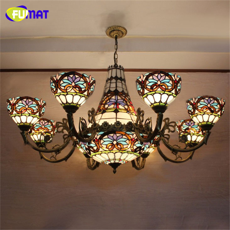 fumat baroque chandelier european vintage art glass light. Black Bedroom Furniture Sets. Home Design Ideas